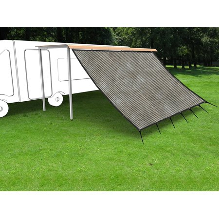 Shatex RV Awning Shade Kit Side block Shade Drop 8x20ft Grey ()