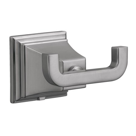 Design House 560433 Torino Double Robe Towel Hook, Satin Nickel