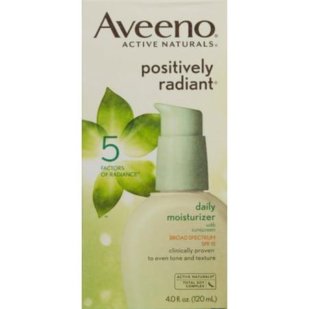Aveeno Positively Radiant Daily Moisturizer (3 Pack - AVEENO Active Naturals Positively Radiant Daily Moisturizer SPF 15 4 oz )