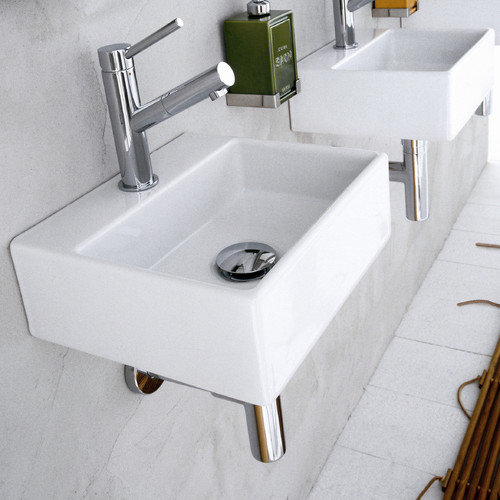 WS Bath Collections Linea Qaurelo Bathroom Sink
