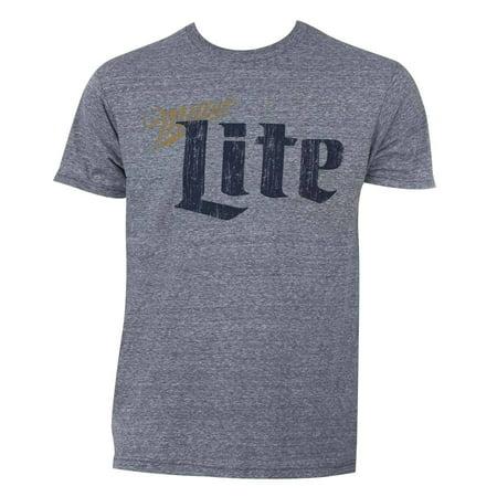 Trau & Loevner Miller Lite Grey Cotton/Polyester Vintage T-shirt