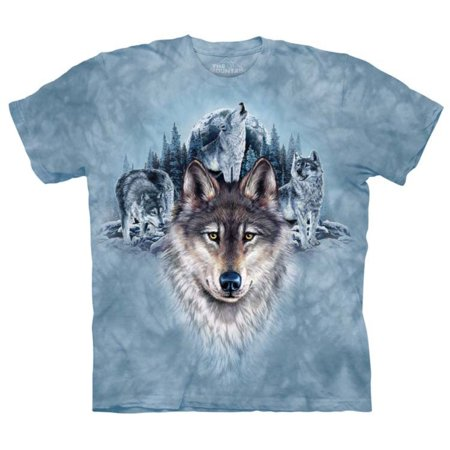 The Mountain Light Blue 100  Cotton Blue Moon Realistic Graphic T Shirt