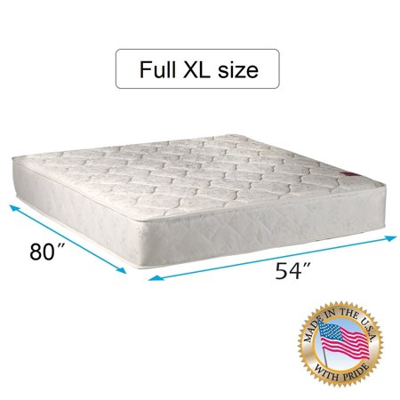 legacy double sided full extra long size mattress only with mattress cover protector included. Black Bedroom Furniture Sets. Home Design Ideas