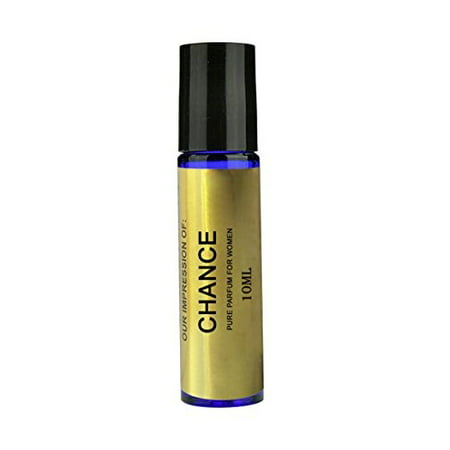 Perfume Studio Body Oil IMPRESSION of Channel for Women; A Pure Alcohol Free Perfume Oil (GENERIC VERSION), 10ml Blue Glass Roll On Bottle. (CHANCE Body