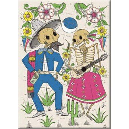 Tesoros Ramos Skeleton Couple Magnet 26322TS