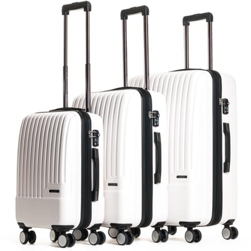 CalPak Davis Expandable 3-Piece Hardside Spinner Luggage Set Ivory