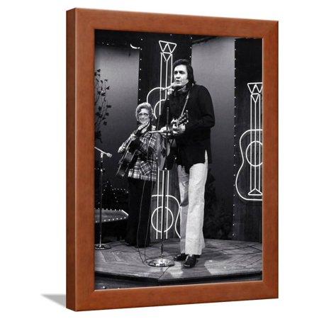Johnny Cash Framed Print Wall Art By Globe Photos LLC - Walmart.com