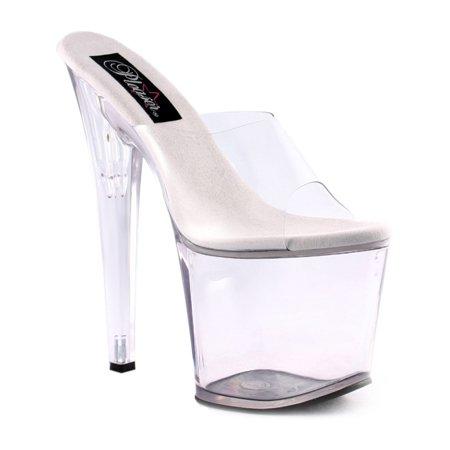 351bf578c72 7 1 2 Inch Sexy High Heel Shoes High Platform Shoes Womens Evening Shoes  Clear - Walmart.com