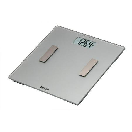 Taylor 5772 Body Fat Analyzer Scale, Glass Silver