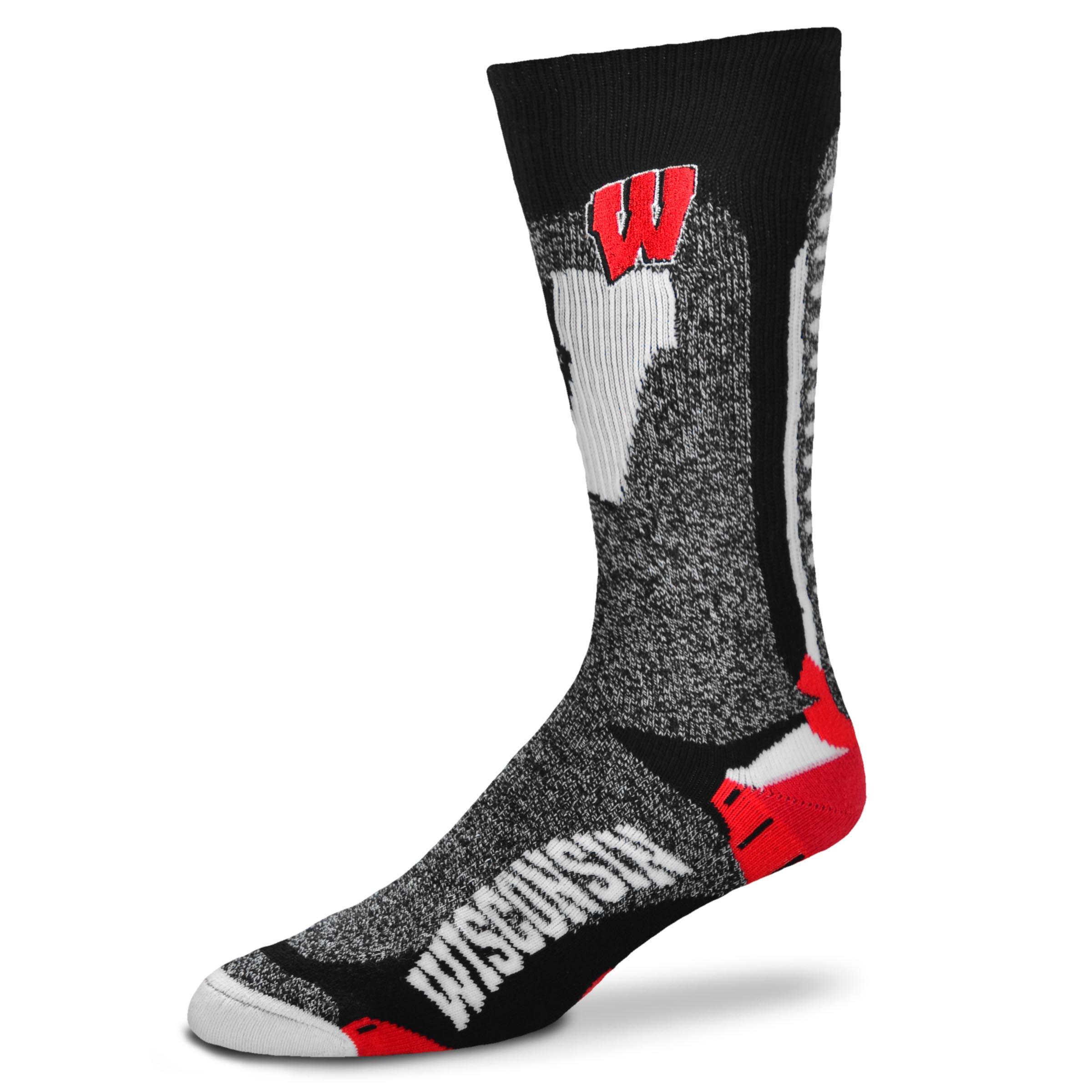 Wisconsin Badgers Downtown Promo Men's Socks