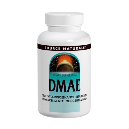 Dmae Dimethylaminoethanol 100 Tablets - Source Naturals DMAE 351mg, 100 capsule