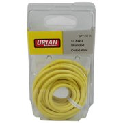 Infinite Innovations UA501240 12AWG Primary Insulation Automobile Wire, Yellow - 12 ft.