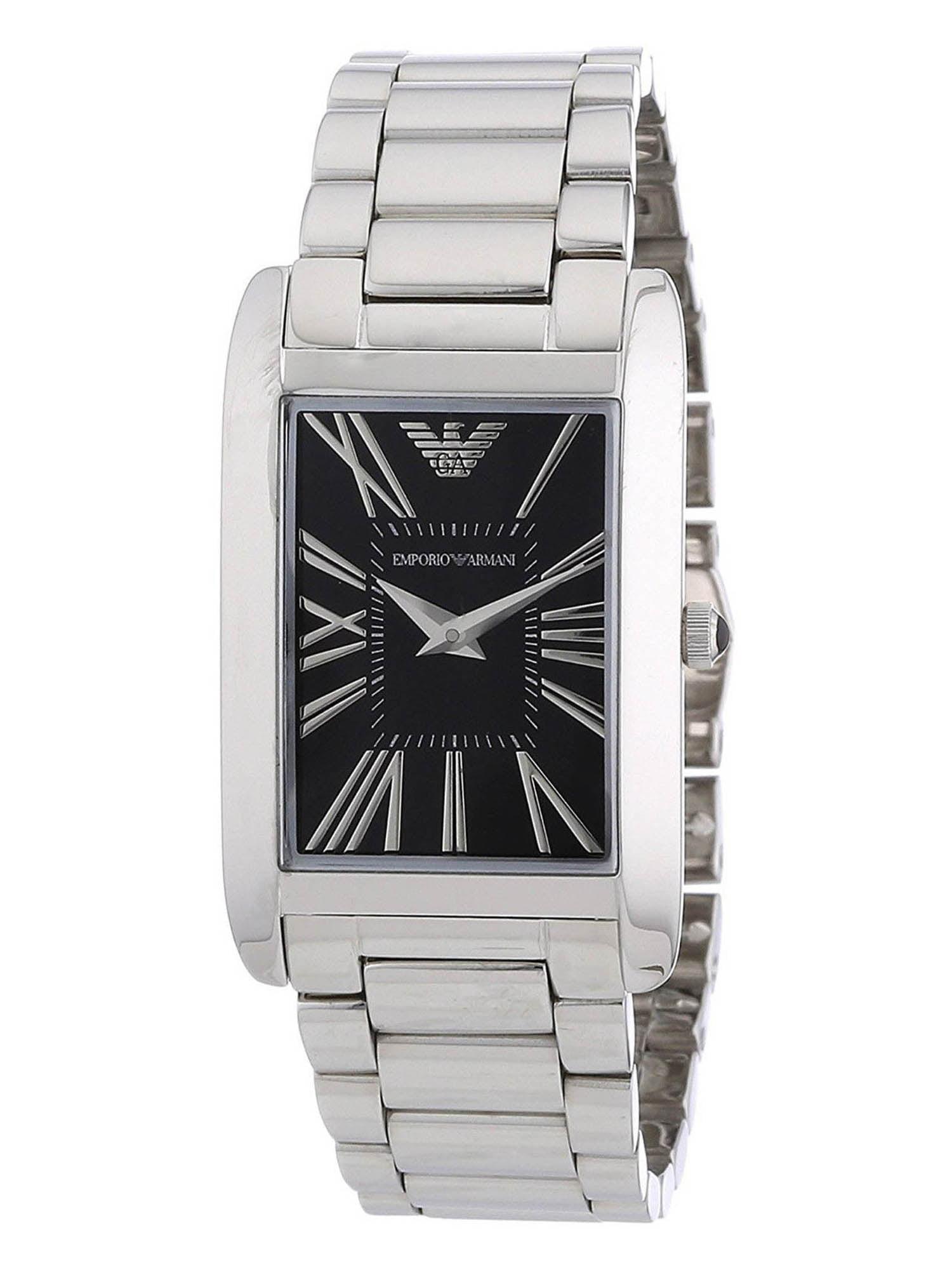 Emporio Armani AR2054 Super Slim Black Dial Stainless Steel Women's Watch