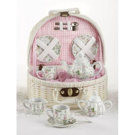 Delton Pink Chintz Children's Tea Set for Two