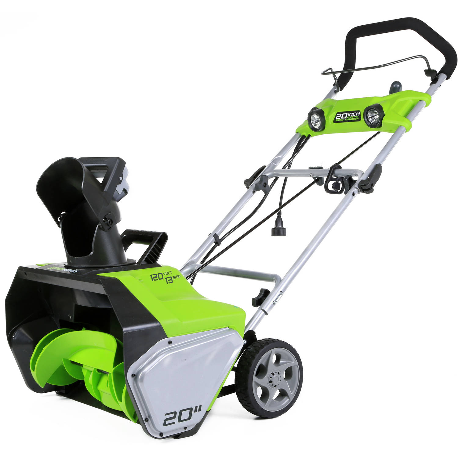 "GreenWorks 2600202 13-Amp 21"" Corded Snow Thrower"