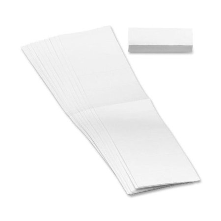 Replacement Insert for Poly Tab, Blank, 1/5-Cut, White, 100 Pack (68620), Reuse hanging file folders by inserting replacement inserts to create.., By (1/5 Cut Blank Tab)