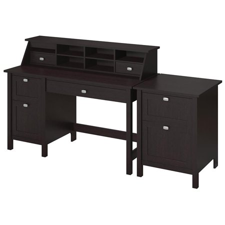 Bush Furniture Broadview Computer Desk Office Suite in Espresso Oak - image 2 of 8