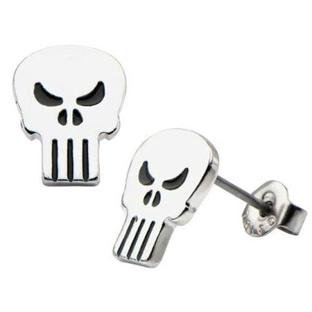 Punisher Logo Stud Earrings ()