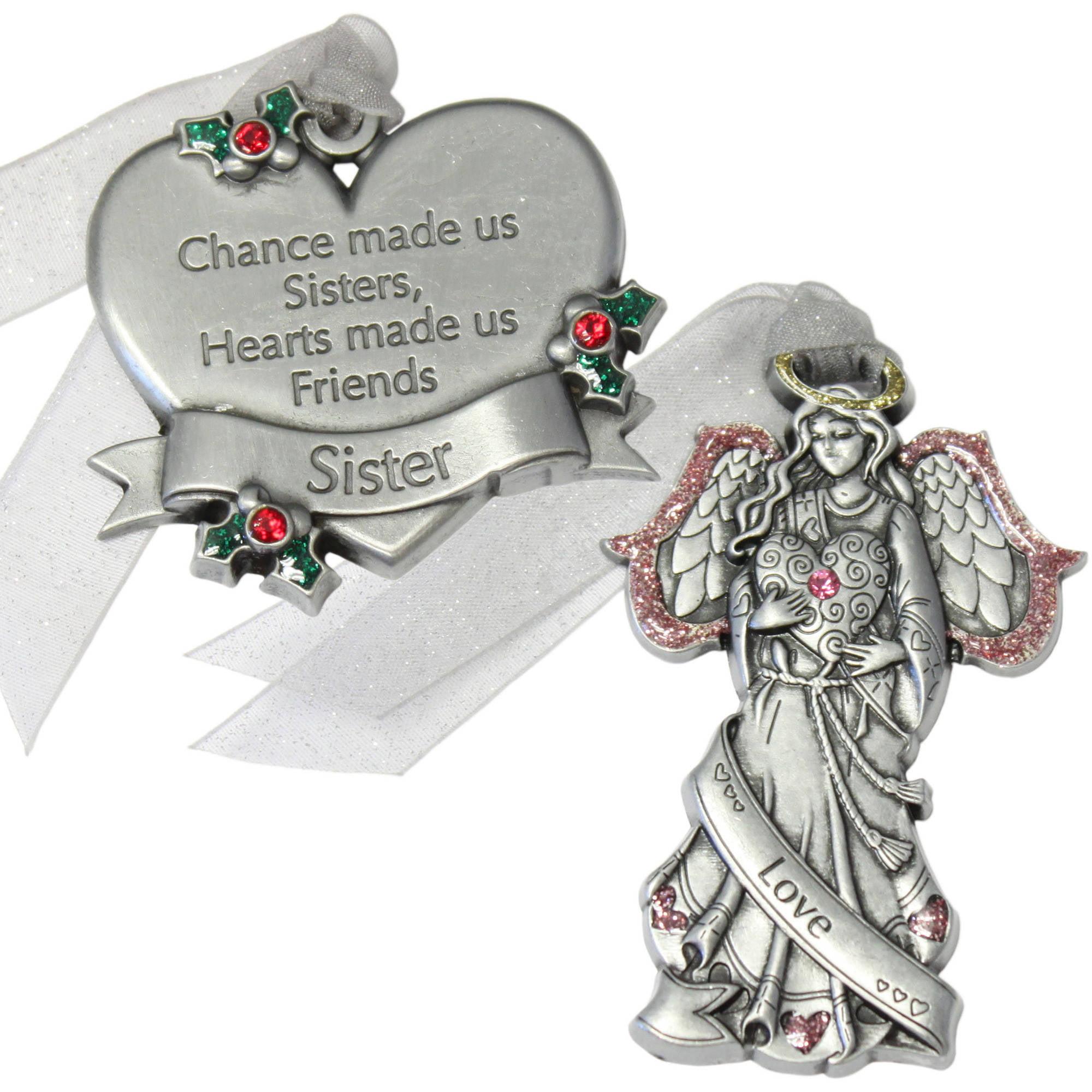 Gloria Duchin 2pc Sister Ornament Gift Set