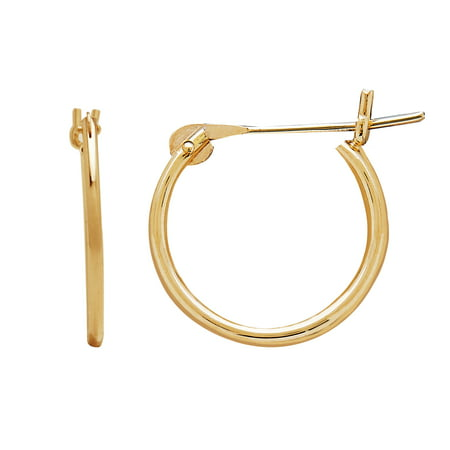 Simply Gold Kids 10kt Yellow 12mm Round Snap Hoop Earrings