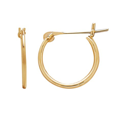 Kids' 10kt Yellow Gold 12mm Round Snap Hoop Earrings](Kid Earrings)
