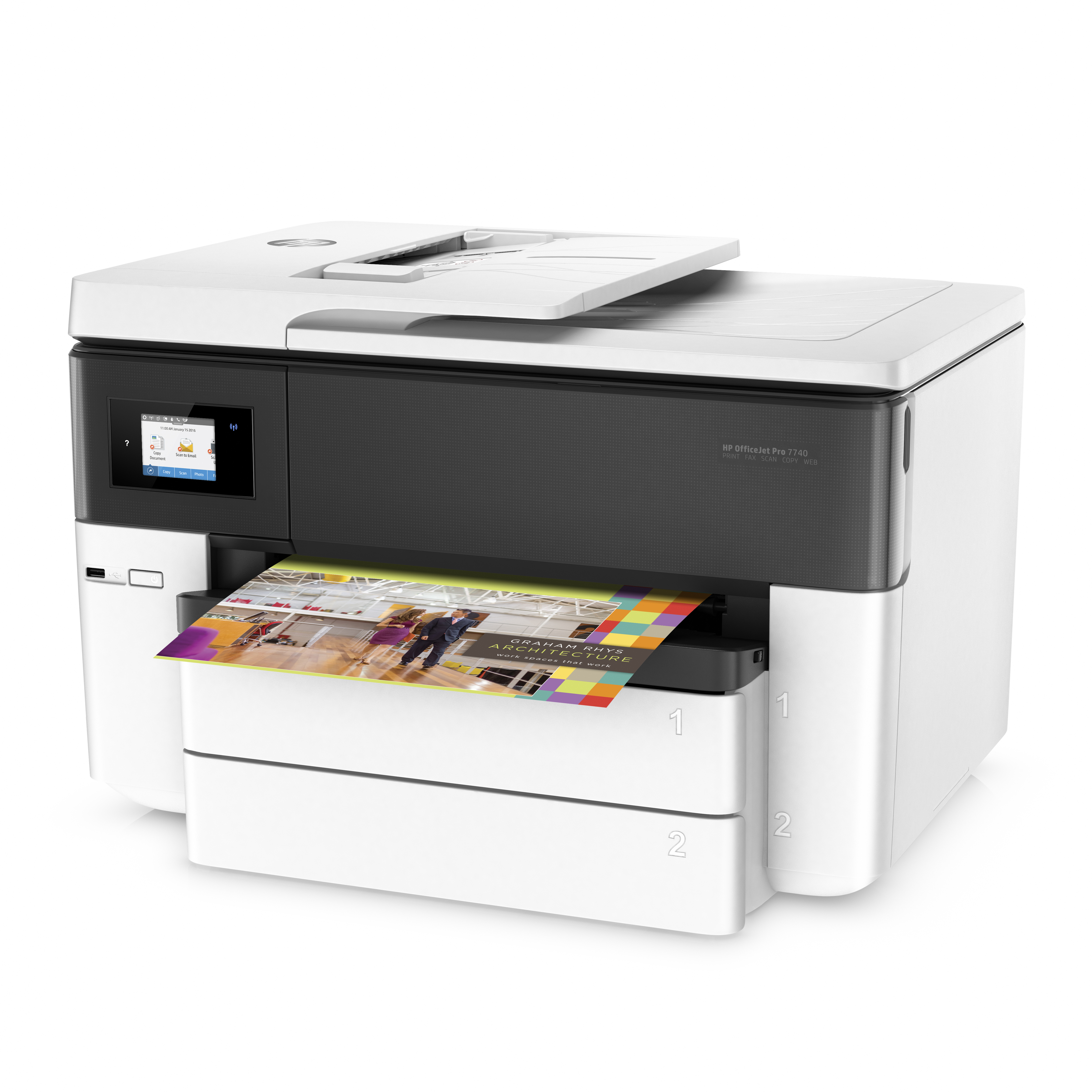 HP Officejet Pro 7740 All-in-One - multifunction printer (color)