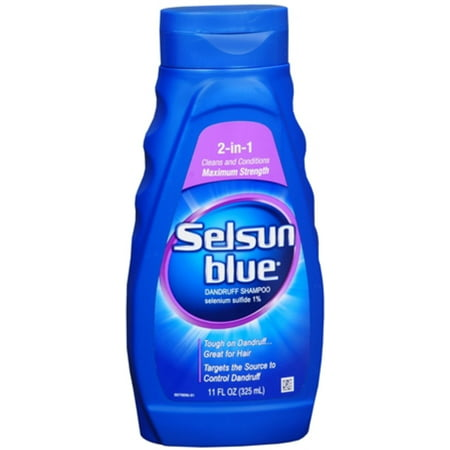 Selsun Blue 2-en-1 Maximum Strength Shampooing 11 oz (Pack de 4)