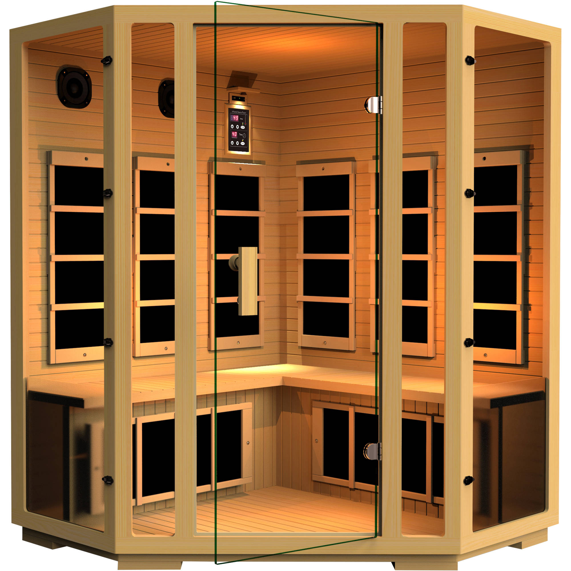 Joyous 4-Person Corner Far Infrared Sauna