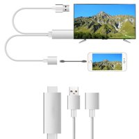 Digital to HDMI Cable Adapter, 1080P Digital to HDMI Digital AV Adapter for Mirroring Mobile Phone Screen to TV/Projector/Monitor, HDMI Adapter for Android Device, iPhone, iPad, Samsung, I6478