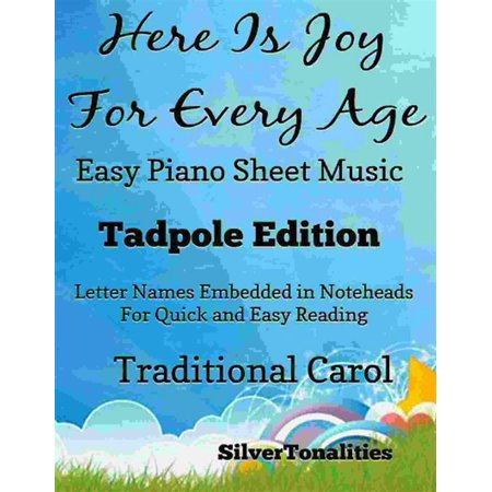 Here Is Joy for Every Age Easy Piano Sheet Music Tadpole Edition - eBook - This Is Halloween Piano Letters
