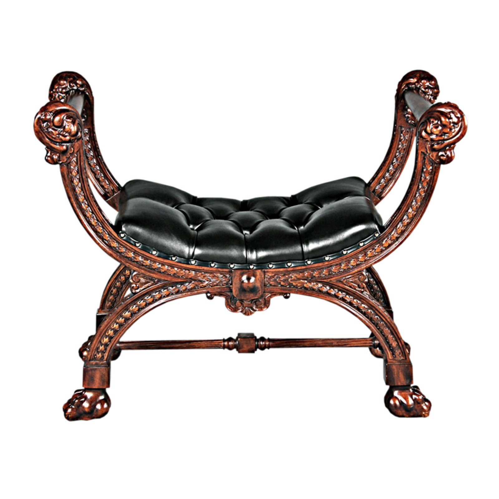 Design Toscano Masters Study Leather Bench Tabouret