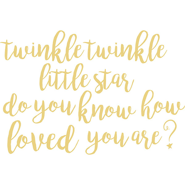 Twinkle Little Star Wall Quote