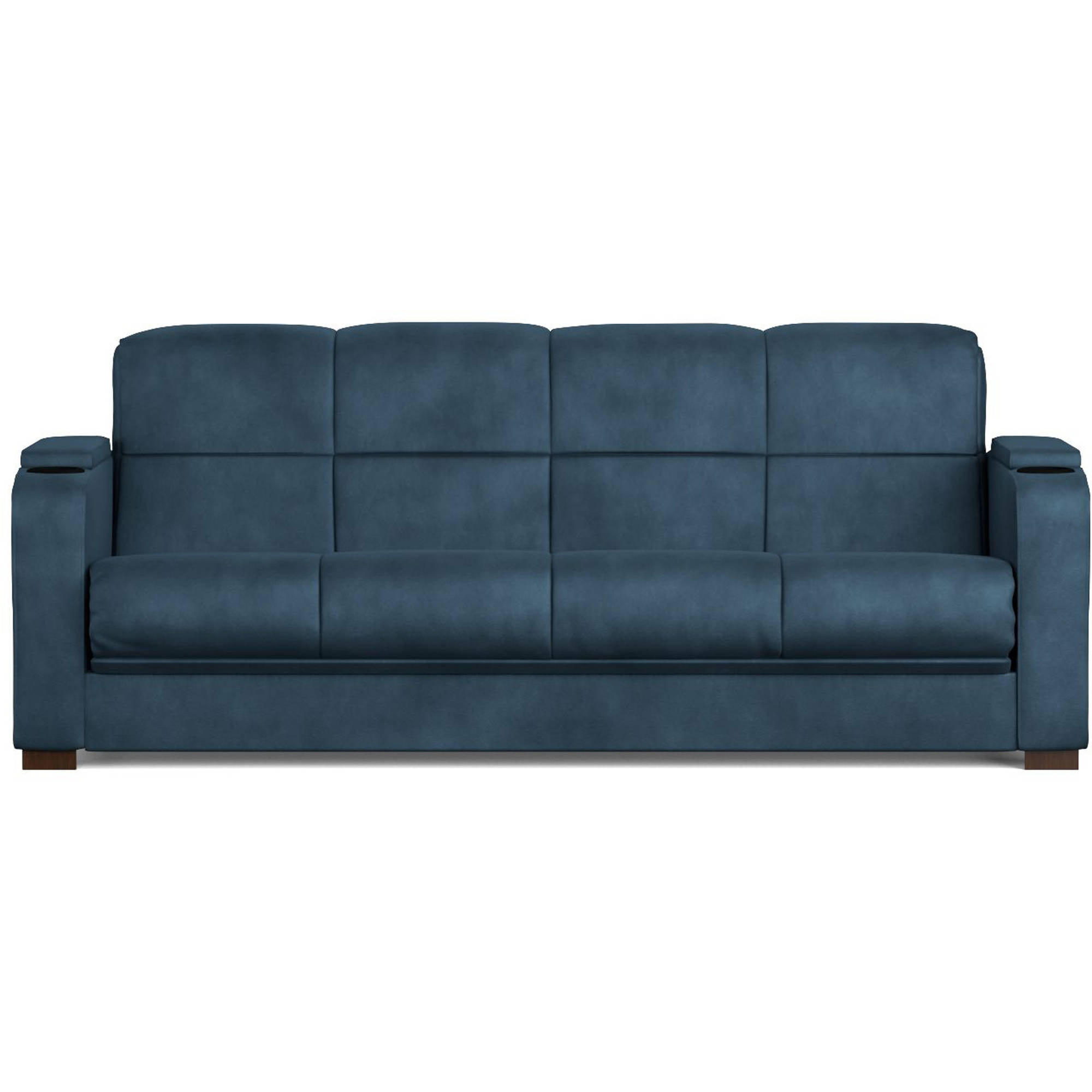 Tyler Storage Arm Convert a Couch and Sofa Bed Microfiber with Set