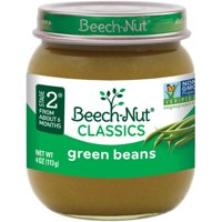 (10 Pack) Beech-Nut Classics Stage 2 Green Beans Baby Food, 4 oz