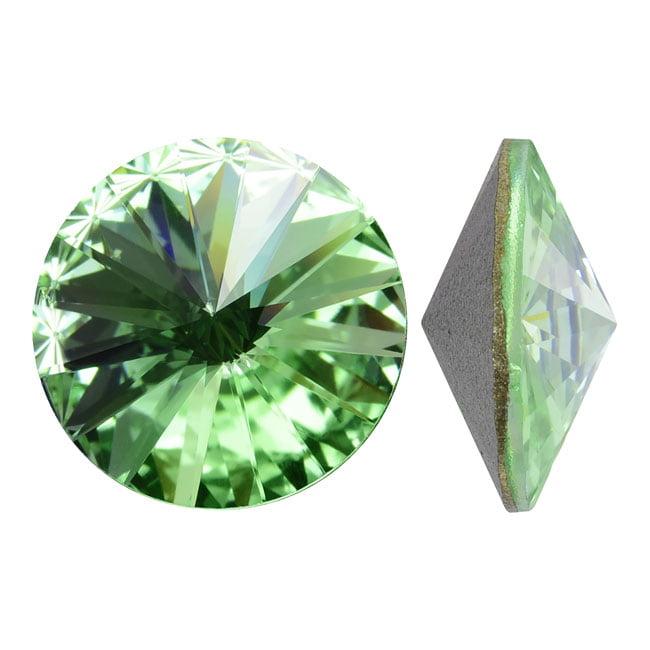 Swarovski Crystal, #1122 Rivoli Fancy Stones 14mm, 2 Pieces, Chrysolite Sf