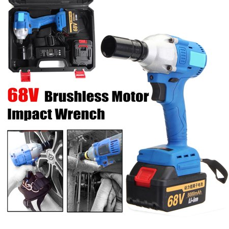 Extreme Sport Brushless Motor (68V 8000mah Rechargeable Cordless Lithium-Ion Electric Impact Wrench Brushless Motor 2 Battery)