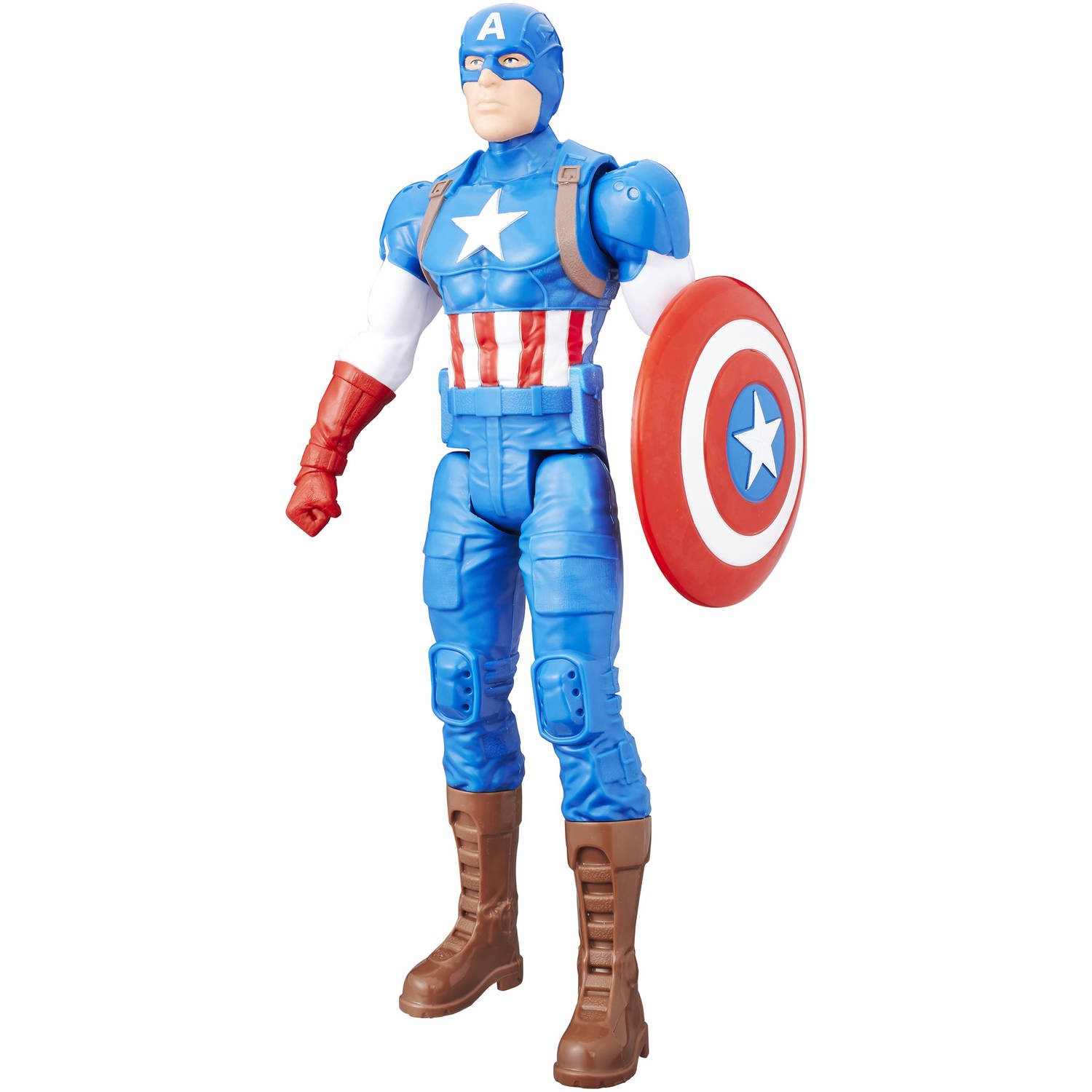 "Marvel titan hero series 12"" captain america figure"