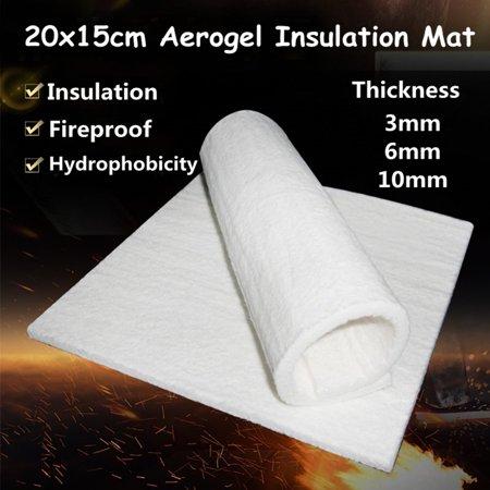 20x15cm Super Light Silica Aerogel Insulation Hydrophobic Mat 3/6/10mm