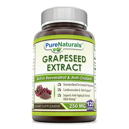 Pure Naturals Grapeseed Extract 250 Mg 120 Capsules 250 Mg 120 Caps