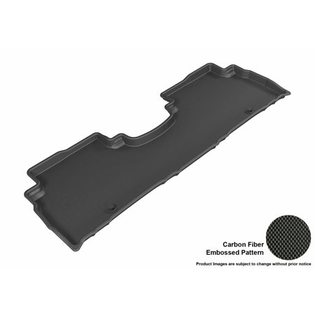 3D Maxpider 2016 2017 Kia Sorento Second Row All Weather Floor Mat In Black With Carbon Fiber Look