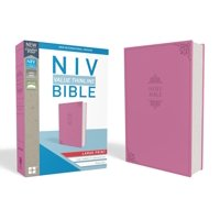 NIV, Value Thinline Bible, Large Print, Imitation Leather, Pink (Other)(Large Print)