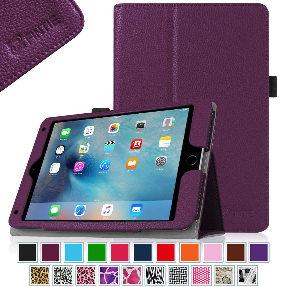 Fintie iPad mini 4 Case - Premium PU Leather Folio Case Cover with Auto Wake/ Sleep Feature,  Purple