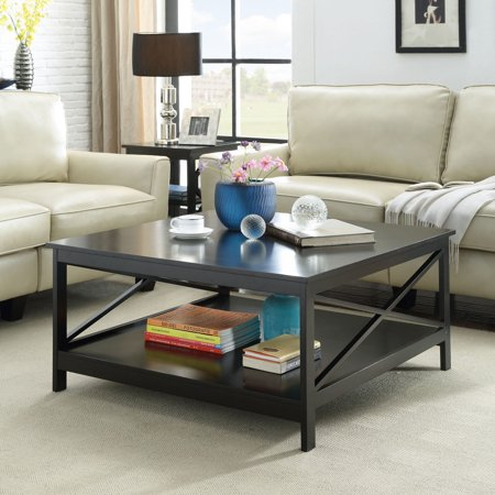"""Convenience Concepts Oxford 36"""" Square Coffee Table, Multiple Finishes"""