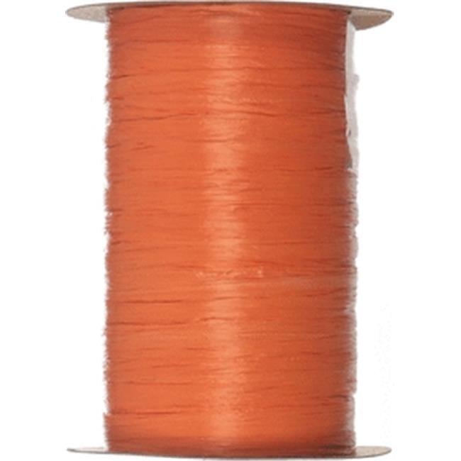 Berwick Offray 20620 60 ft. Matte Wraphia Teal Ribbon - Orange