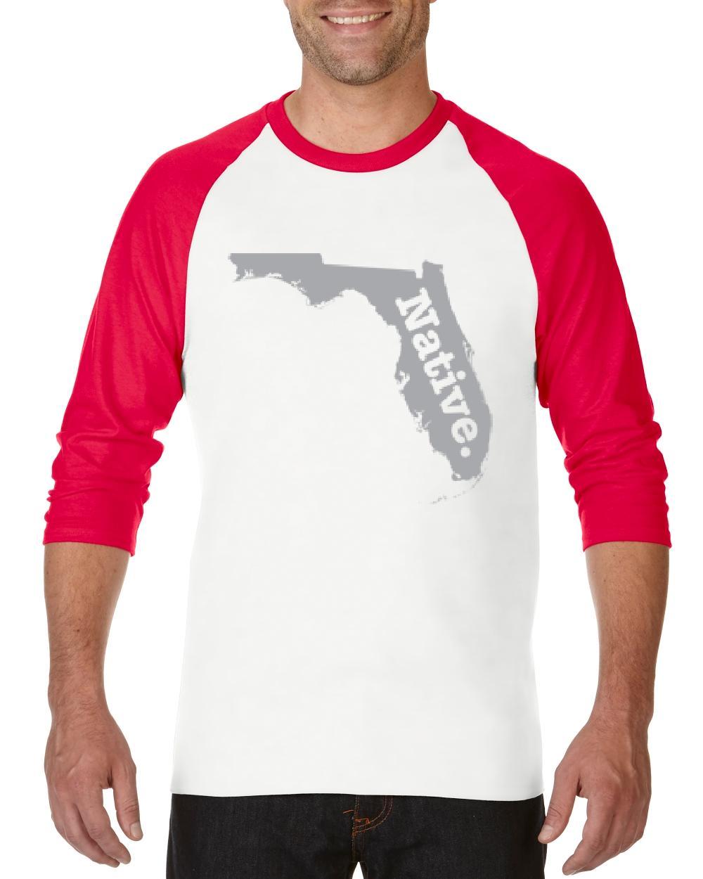 US States Florida Miami Orlando Guide Home of University of Florida UF Women's Raglan Sleeve Baseball T-Shirt by