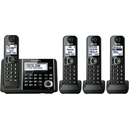 - Panasonic Kx-tgf344b Dect 6.0 1.9ghz Expandable Digital Cordless Phone System (4 Handsets)