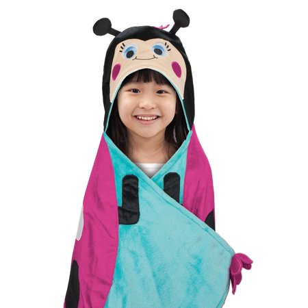 Best Brands INC Bear Kids Hooded Throw Blanket - Lady