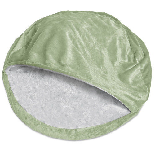 Archie & Oscar Charlotte Microvelvet Snuggly Dog Cave Bed Hooded