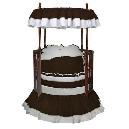 Round Baby Bedding (Baby Doll Bedding Regal 6 Piece Crib Bedding Set )