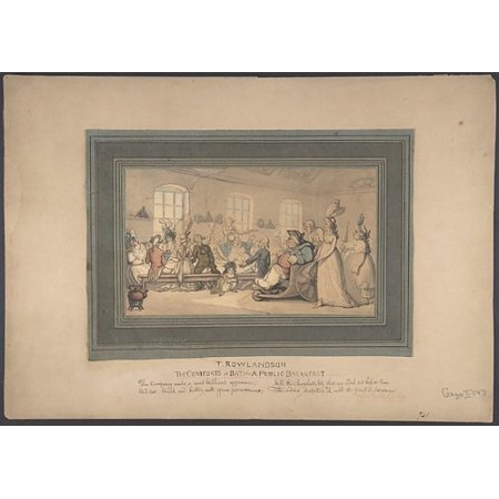 The Comforts of Bath and Public Breakfast Poster Print by Thomas Rowlandson (British London 1757–1827 London) (18 x